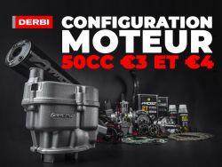 Configuration moteur 50cc Derbi Euro 3 et 4