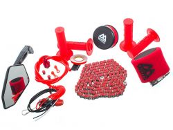 Pack accessoire rouge moto et scooter Watts