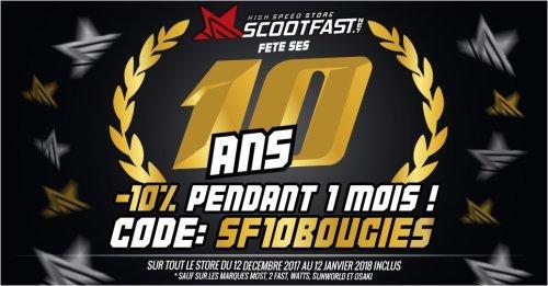 Image de présentation de l'opération promotion pour les 10 ans de ScootFast